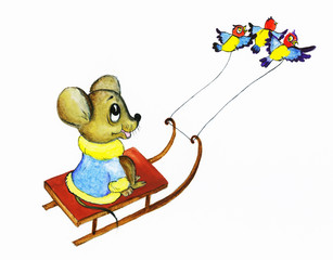 birdies mouse rides sledges