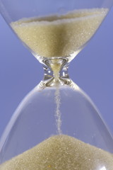 Hourglass counting the time is running out
