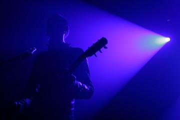 Live concert - a guitar player
