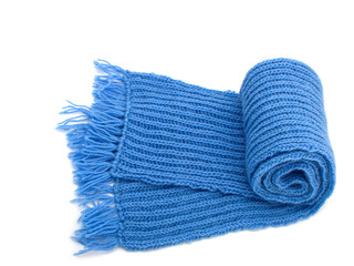 Warm knitted scarf