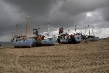 Fischereihafen kurz vor der Sturmflut