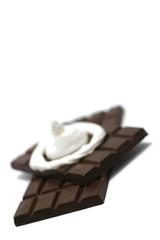Chocolate with cream