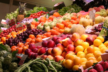Fruits in Market-hall, Spain
