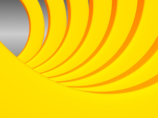 Bright orange and yellow radial background