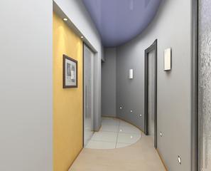modern vestibule interior (3D rendering)