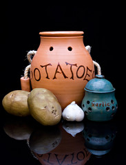 Potatoes Garlic Containers