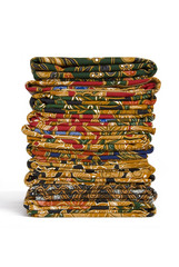 Isolated image of a stack of Batik Sarongs.