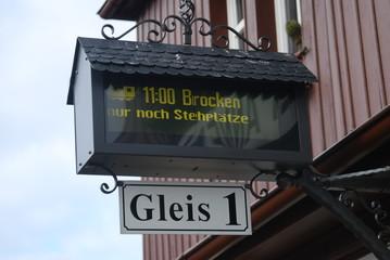 Gleis 1 Abfahrt zum Brocken