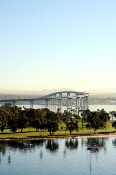 A view of the Coronado Bay Bridge