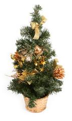 christmas tree against white background,