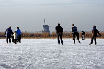 Traditional dutch winter view