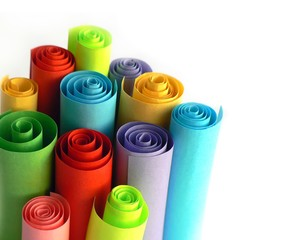 colorful roll paper