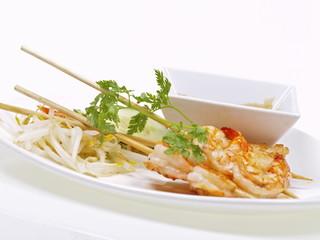 malaysische shrimp satays