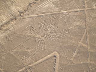 Poster South America Country Nazca Lines Peruvian Desert