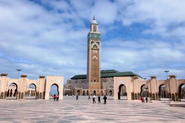 Foto op Canvas Marokko moschea di Hassan 2`a Casablanca in Marocco