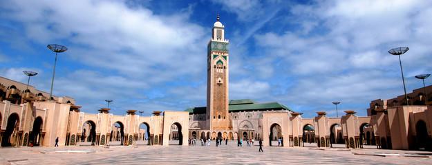 In de dag Marokko moschea di Hassan 2`a Casablanca in Marocco