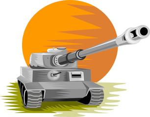Keuken foto achterwand Militair World war two battle tank