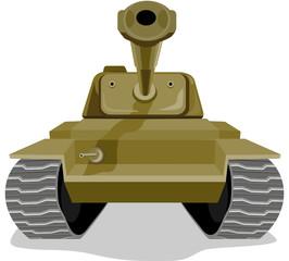 Keuken foto achterwand Militair Battle tank