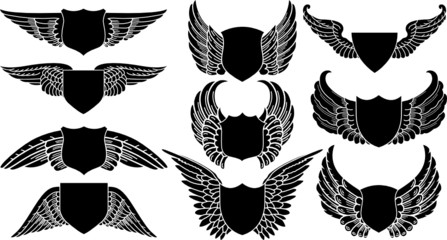Shields with Wings, create your own logo