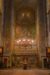 Interior image from the Orthodox Cathedral in Cluj ,Romania.