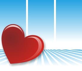 corazon sobre azul