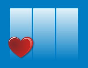 corazon con 3 paneles