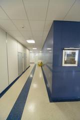 Office building interior: corridor