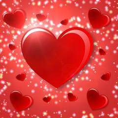 chispas y corazones