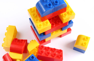 Colourful set of toy bricks