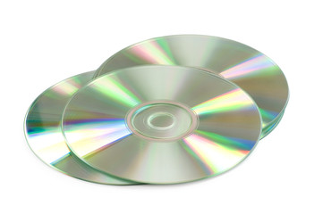Three CD's isolated on the white background