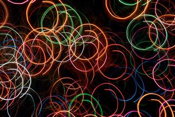 abstract circular light tracks