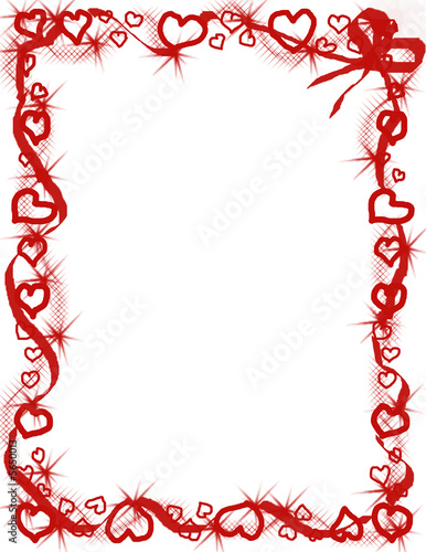 valentine hearts border stock photo and royalty free images on
