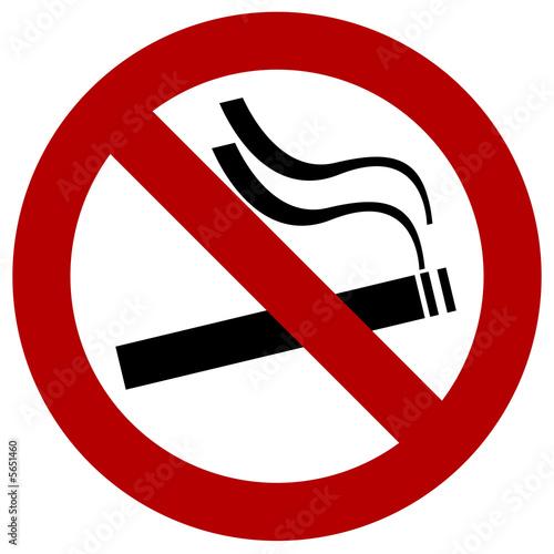 panneau interdit de fumer cigarette lieu publique simple. Black Bedroom Furniture Sets. Home Design Ideas