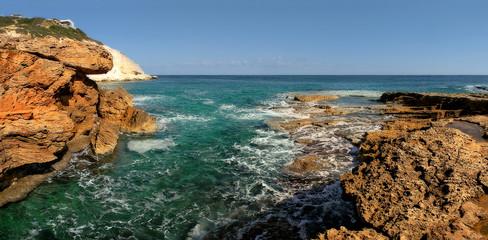 Rocks and Sea.