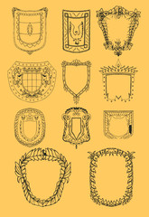 baroque shilds set