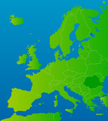 europa-karte rumänien
