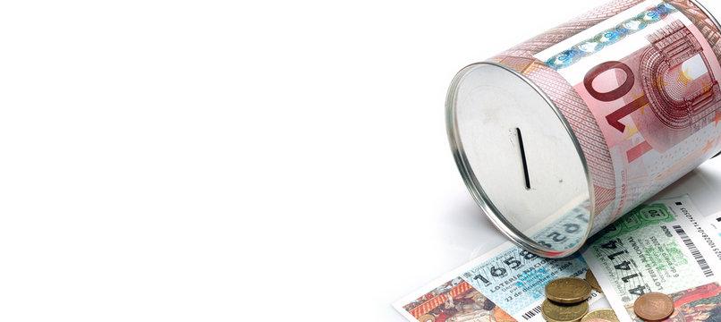 Ahorro y loteria Navidad