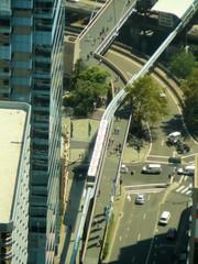 Sydney - Monorail von oben