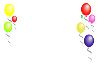 background with baloons