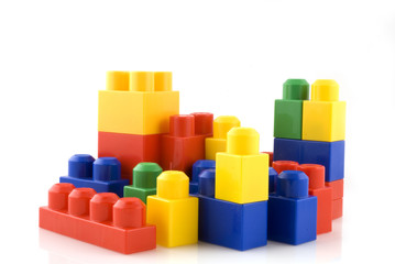 colorful blocks for children to build with