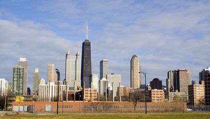 Fototapete - Chicago from the west side