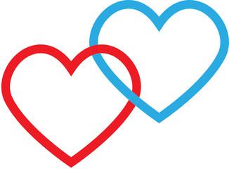 interwoven hearts vector