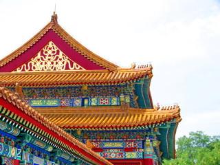 Fotobehang Beijing Pékin, Chine, Toit décoré , Cité Interdite