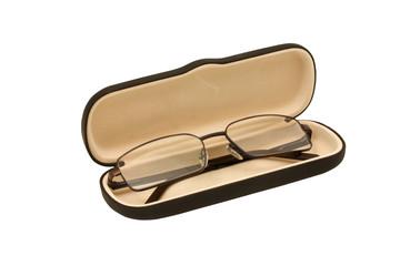 opened eyeglasses case