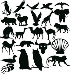 silhouettes - animals