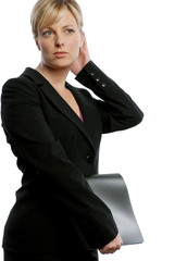 Blonde Business Woman very confident