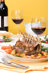 Rack of Lamb with Rosemary garlic dressing
