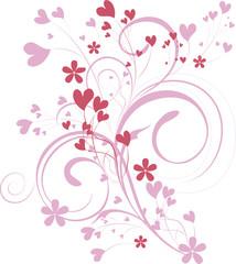 ornamental valentine background - vector