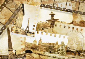 Fotomurales - Parisian memories -  old photo- album