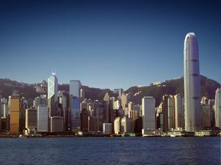 Foto op Aluminium Hong-Kong Hong Kong Skyline (View from Tsim Sha Tsui / Kowloon)